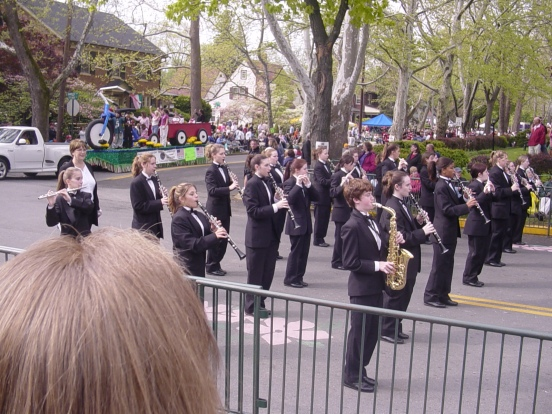 At Winchester VA Apple Blossom Festival.  My daughter is 3rd over in 2nd to last row, playing piccolo
