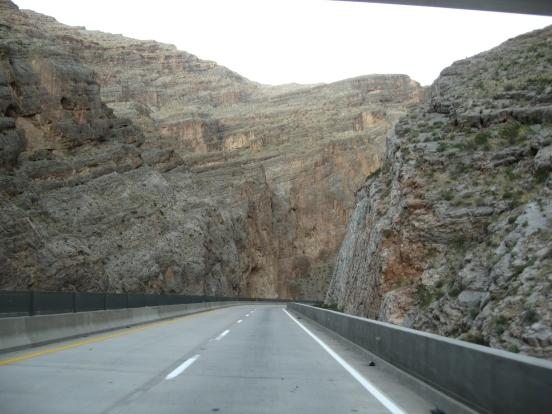 on the road between Las Vegas and Cedar Creek, UT