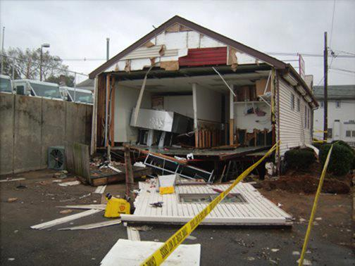back of store after Sandy