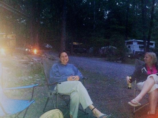 Jo relaxing by the fire!