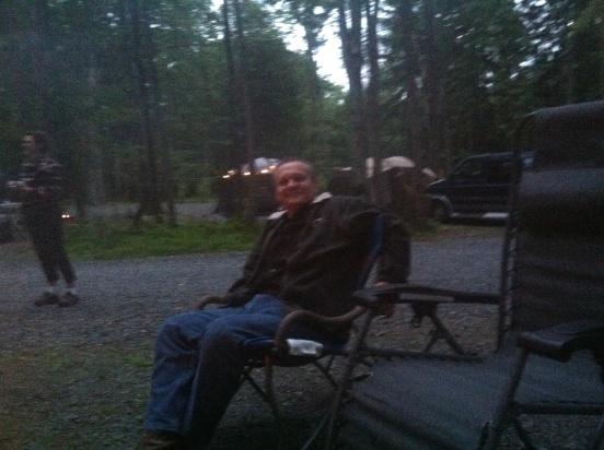 Lee relaxing