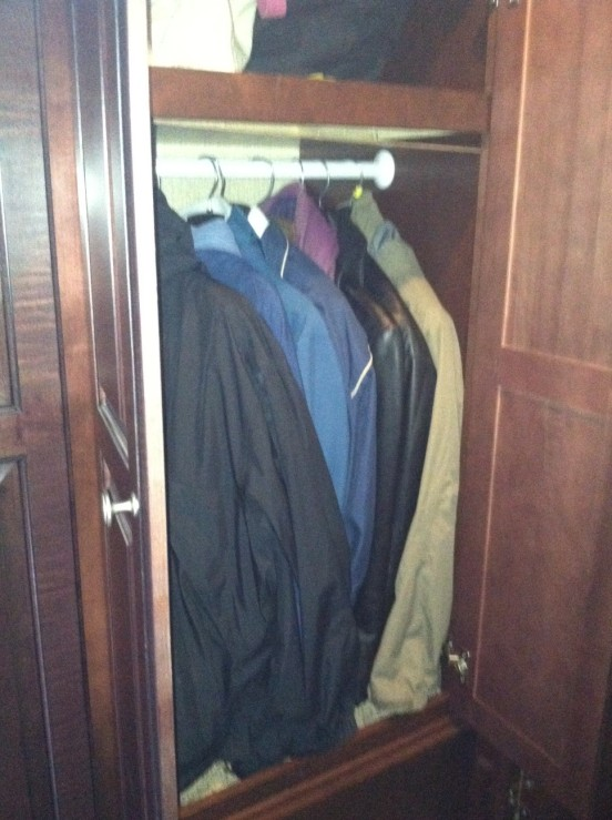jackets - Bill and I both love our jackets!  Might have to downsize these a bit more!