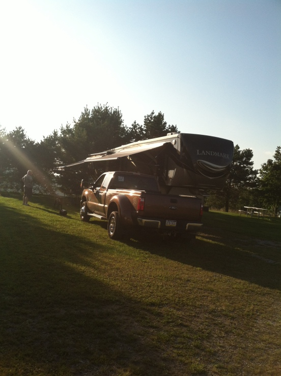 all set up before the sun went down