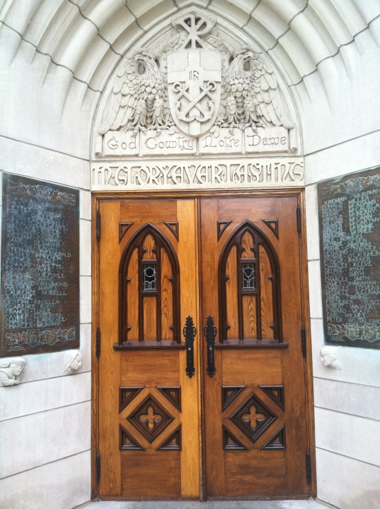 doorway into the admissions hall