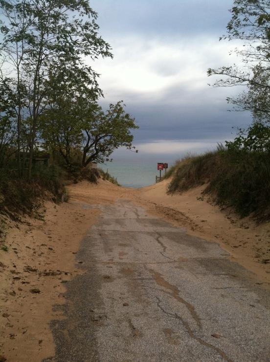 first view of Lake Michigan