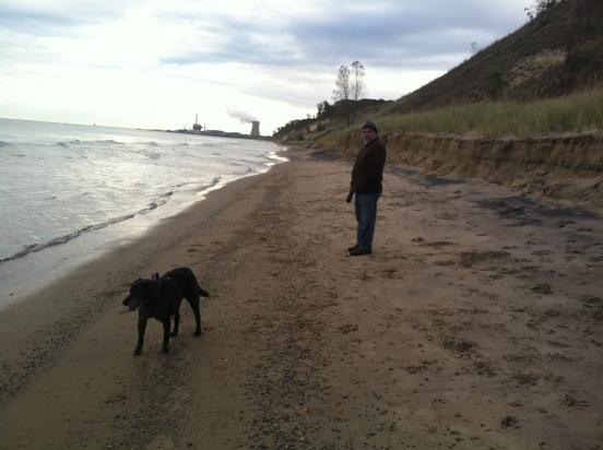 Bill and Cocoa enjoying the morning walk