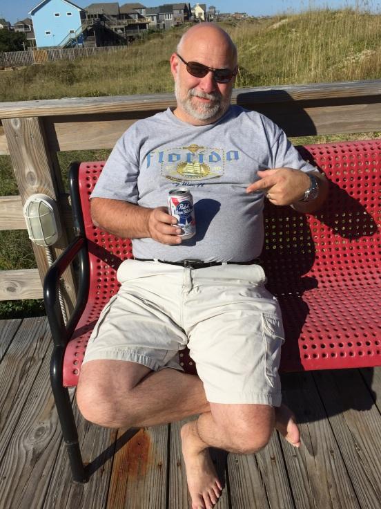 Bill loved visiting Avon Pier, they sell $1 PBR!