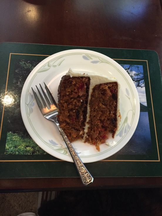 carrot cake, it's what's for breakfast!