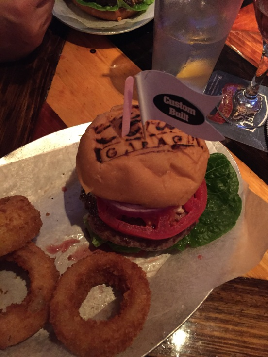 This one was mine - a LAMB burger!