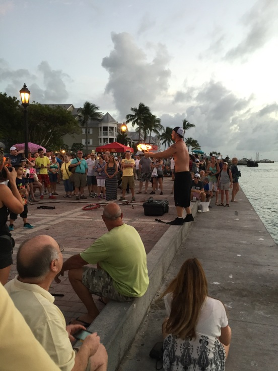street entertainer Mallory Square