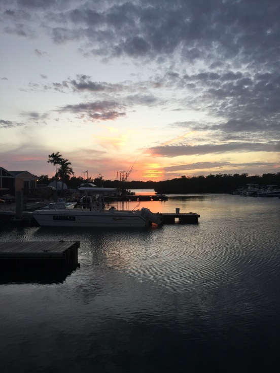 sunset from the CG marina