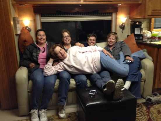 this is one of my FAV'S - Dr. Jo, me, Tracy, Cori and Momma TX Jo on our laps