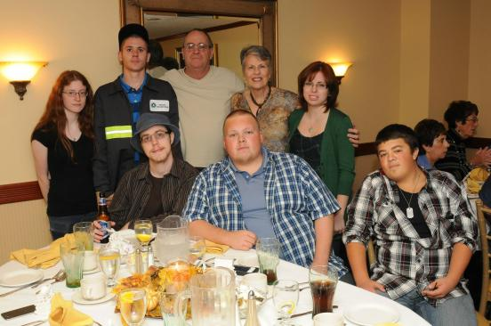 Grama and Grampa with all their grandkids