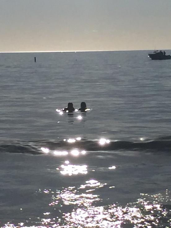 enjoying the gulf waters