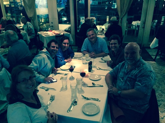 at Demetri's; me, Ben, Dr. Jo, Lee, Tracy, Bill - Greek food at it's best!