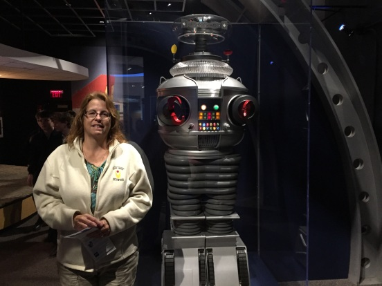 "me with the robot from ""Lost in Space"" - one of my fav shows as a kid"