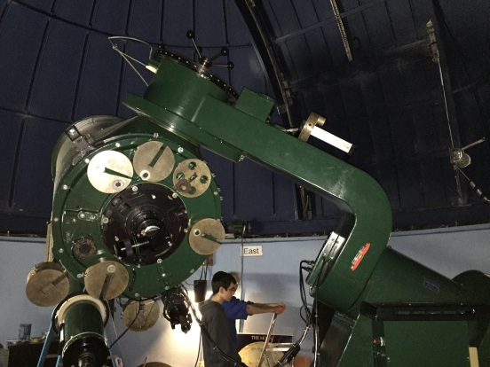 telescope we saw at Eastern FL State University, with Howard, sadly they didn't open the dome due to weather, but we got to see a lot of very interesting pics - and Bill got to talk about ham radios with the astronomer - he was a happy guy!