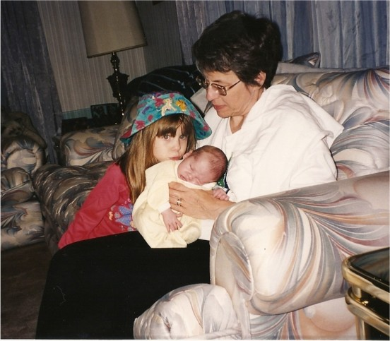 Michelle and Grama with you when you were a little teeny baby