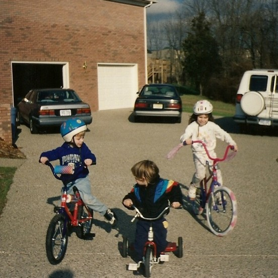 still on a trike, but not for long!