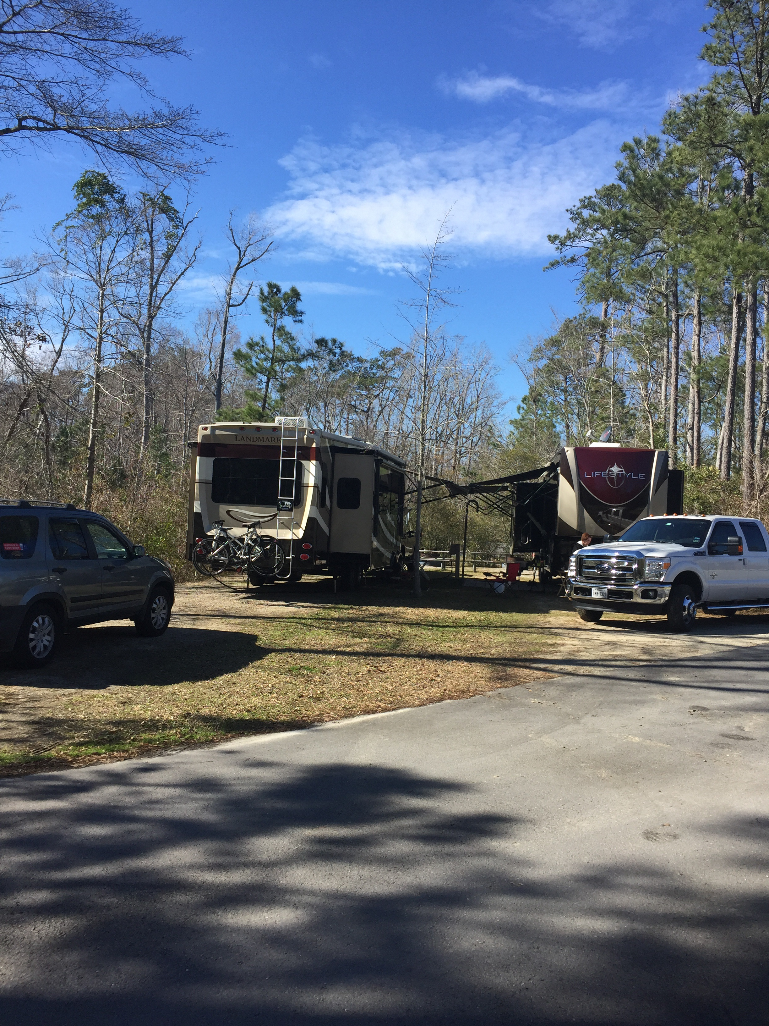 New Bern Flanners Beach Campground March April 2015 Bill