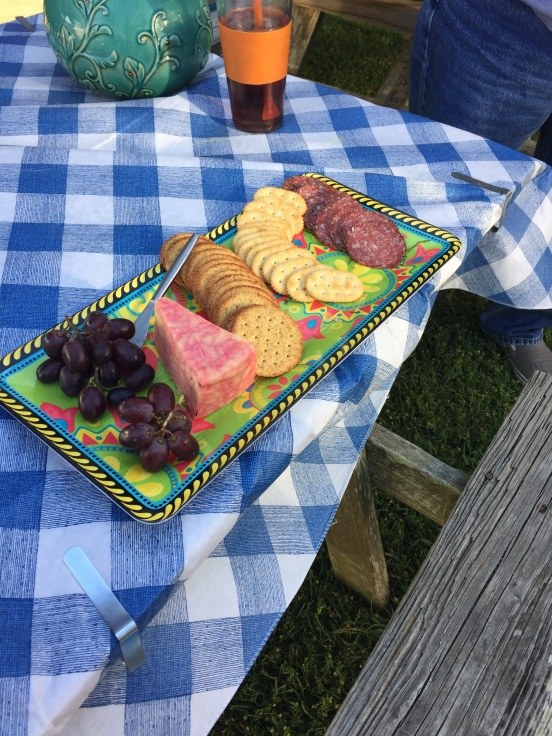 charcuterie (a fancy word for meat and cheese trays)