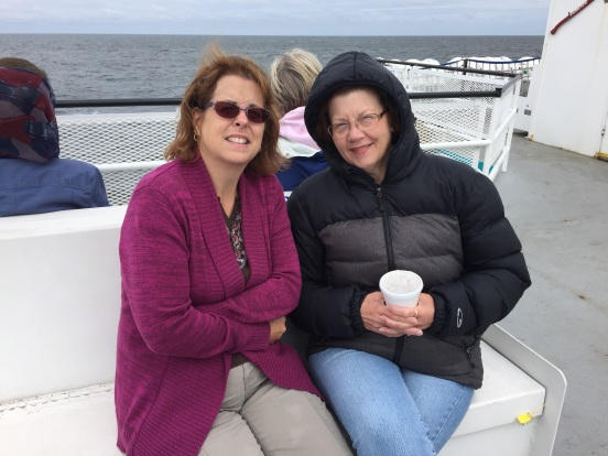 Jo and I enjoying the ride