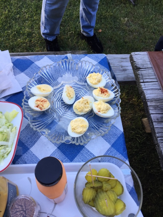 Tracy's deviled eggs were a hit!