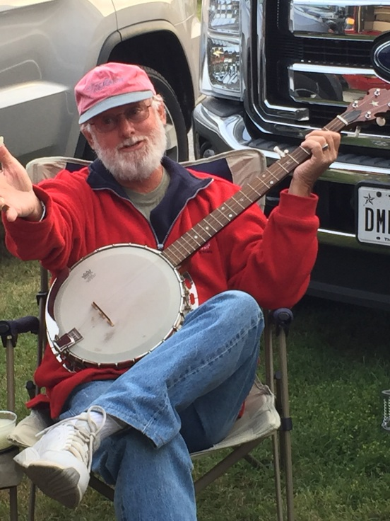 Guy - his turn to pretend to play us a song - he knows about 30 seconds of the beginning of that banjo song from Deliverance - Dueling Banjos!