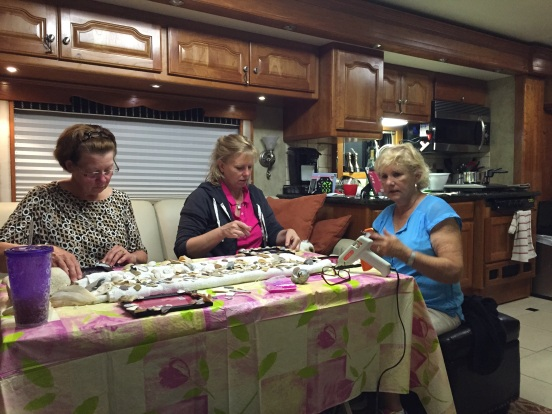 "Jo, Cori and Eileen busy at ""work"""