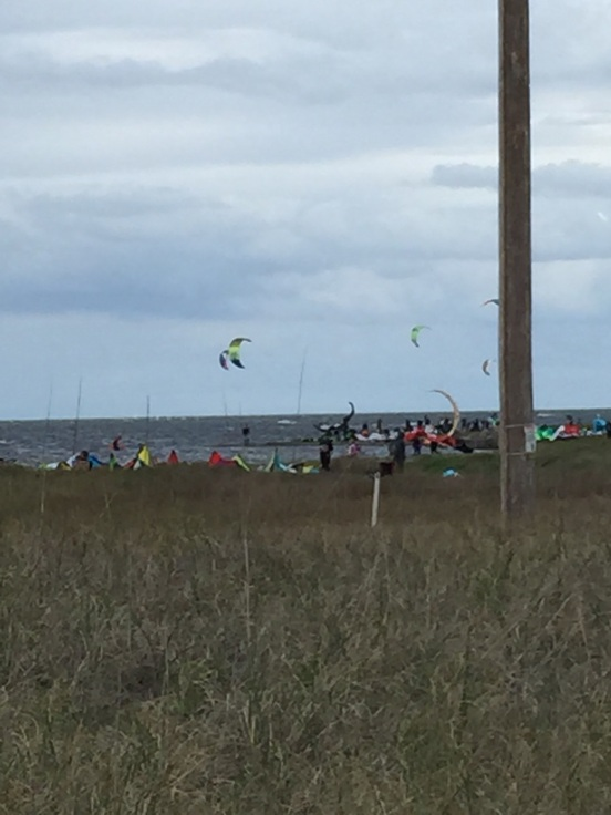 this isn't the museum, but on the way back home, there must have been over a hundred kite-boarders