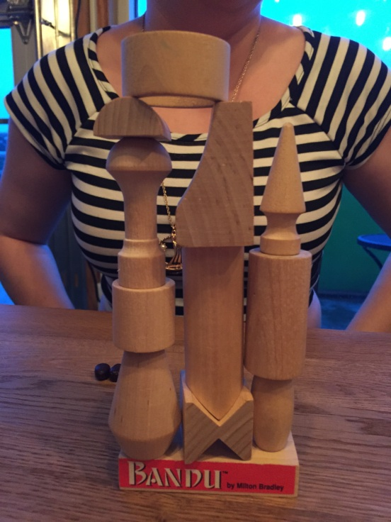 we played a that was the reverse of Jenga - can't remember the name right now - here is what Michelle built