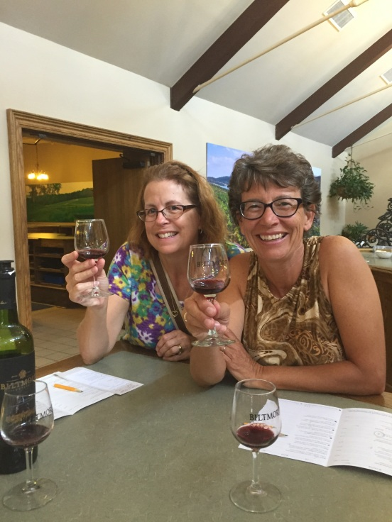 Pam and I enjoying our tasting