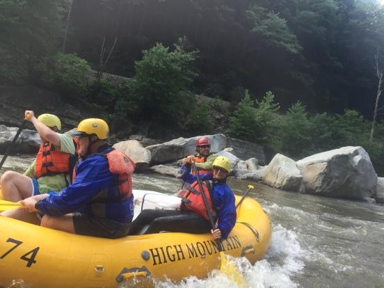 paddling hard!
