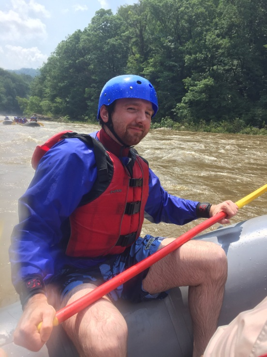 Derek - he has ONLY rafting his section of this river, it was the first time for the rest of us
