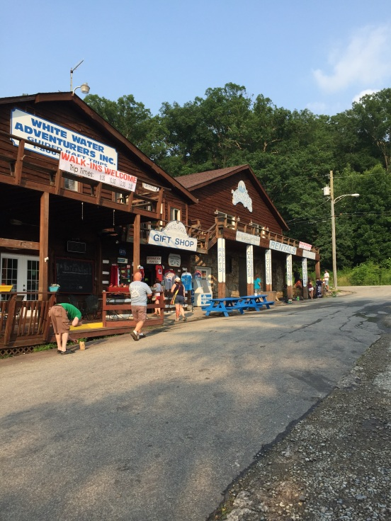 main store for Whitewater Adventures - had to at least check out the t-shirts!