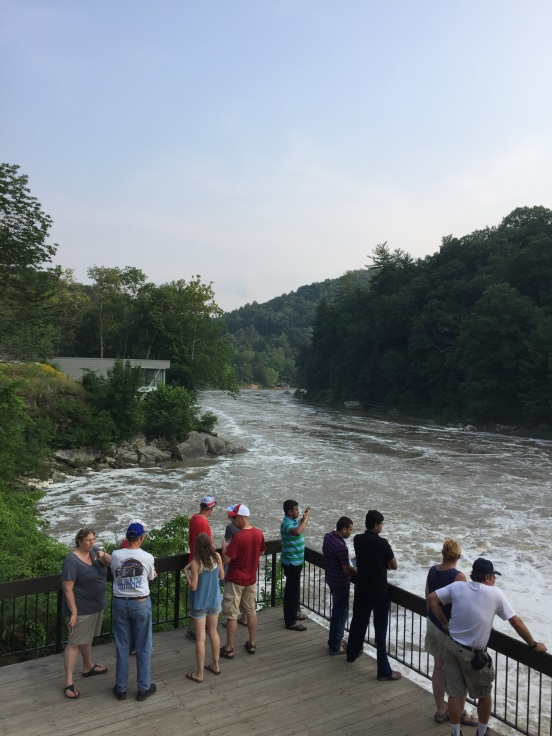 We walked down to look at the river - the put in was on the left