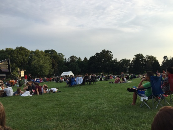 people filled the huge lawn