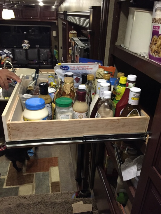 new drawer all full of stuff - I can see all what's in there - even all the way in the back!