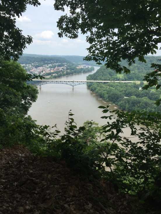the reward - a view of the Allegheny River and town of Natrona Heights