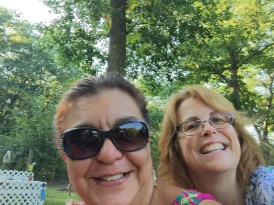 me with a old dear friend, Gina, who was visiting from SC