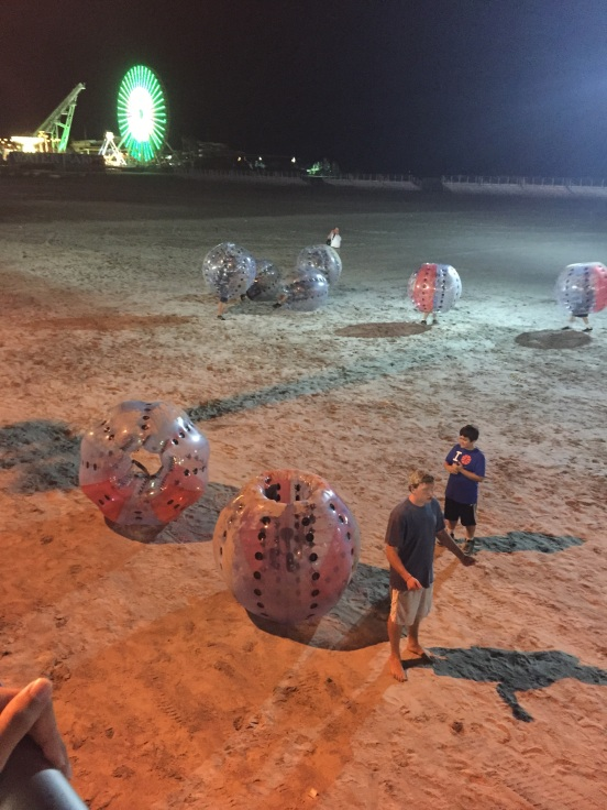 there are people in those blow-up things!