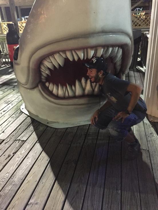 Alberto getting bit by a shark!