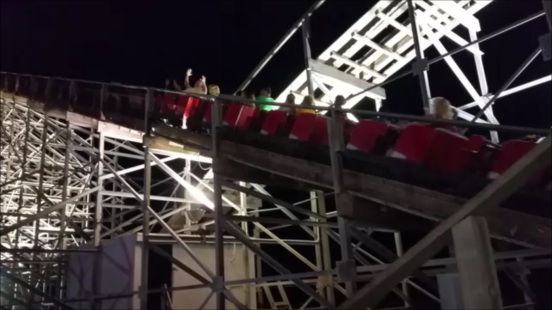 Jo was able to get a still frame from a video she took of the old wooden roller coaster we went on to finish off our night in Wildwood