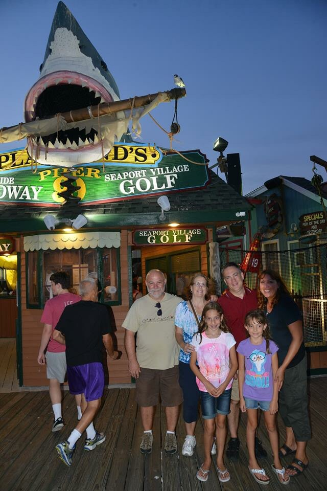 All of us (L to R - Bill, me, Olivia, Michael, Juliette and Johanna) after a round of mini-golf