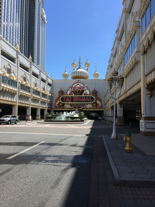 we parked at Trump Taj Mahal, since it is right on the boardwalk