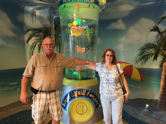 Craig and I in front of the Margaritaville blender!