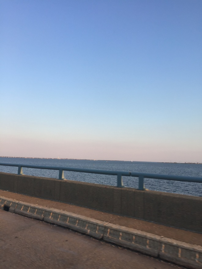 crossing the causeway from Toms River to Seaside Heights