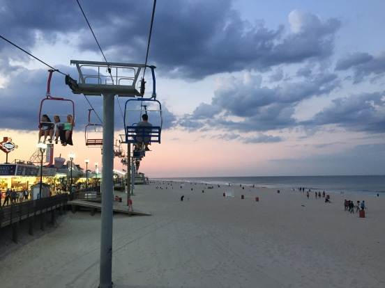 Craig wanted to treat us to the sky-ride - its a great way to see the sunset
