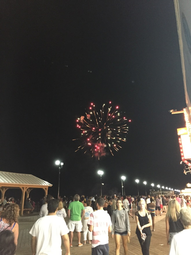 we didn't know there was going to be fireworks - how cool was that?