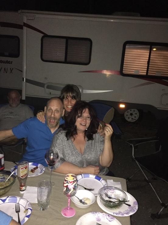 Jay and Caroline - and the photobomber - Shannon!